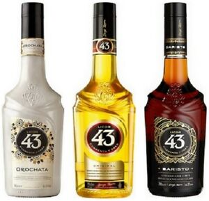 3er Pack Licor 43, 1xOriginal, 1xOrochata, 1xBaristo je 0,7l, alc. 31 Vol.-%