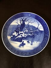 Christmas 1967 Plate Kai Lange The Royal Oak by Royal Copenhagen Denmark