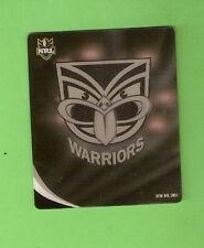 2010 RUGBY LEAGUE NZ  TAZO  #74  NEW ZEALAND WARRIORS LOGO