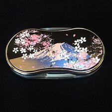 """Loupe LED Magnifying glass with Mt.Fuji & Cherry blossom pattern """"Makie"""" F/S"""