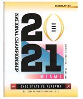 2021 College Football National Championship Program ALABAMA OHIO STATE