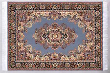 Large Pattern Rug 3, Doll House Miniature, Woven Rug Mat Flooring 1,12 Scale