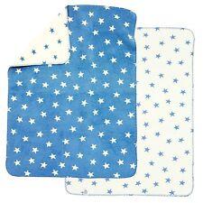 Alvi Baumwolldecke Kuscheldecke Babydecke Schmusedecke 75x100 Sterne blau NEU