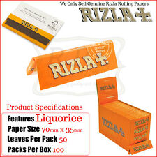 Rizla Liquorice Regular/Standard Size Cigarette Rolling Papers - 1 Full New Box