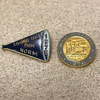 VFW & American Legion Lapel Pins 1975 1976 Lot of 2 TWO- Vintage