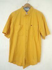 NWT BUGLE BOY Mens Yellow Short Sleeve Button Down Classic Shirt Size Large