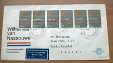 FDC E 91 met strip van 6 zegels