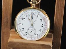 Longines Medical Chronograph 18kt enamel dial Pocket Watch, Around 1910