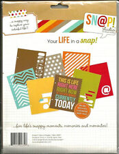 Snap Studio 6x8 Die Cut Cardstock Pages 8 pieces  BO