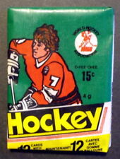 1977-78 OPC WHA Hockey Unopened Wax Pack, 12 cards, Howe, Hull Possible