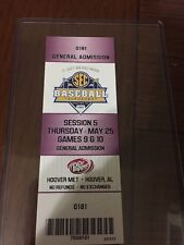 Chad Spanberger Record Game Ticket Arkansas Razorbacks Rare!! Mint