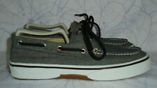 Men's Gray Canvas SPERRY TOP SIDER Loafers  Size 7.5 M GREAT Condition