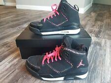 03d8df8ae13 Nike Girls Jordan Flight SC-2(GS) Black/ Desert Pink-Sz