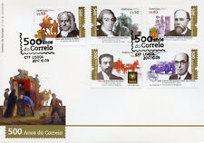 Portugal 2017 FDC Correio Postal Services 500 Years 5v Cover Cars Horses Stamps