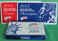2005 Proof and Uncirculated Annual US Mint Coin Sets PDS 33 Coins