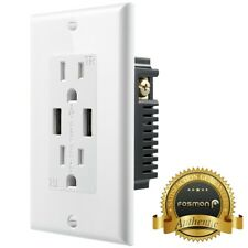Tamper Resistant Outlet TR Receptacle 15A Wall Plate 2x 4.2A USB Port Charger