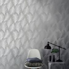 Holden Metallic Feather Pattern Wallpaper Leaf Motif Modern Textured 50081