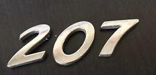 PEUGEOT 207 rear number badge logo emblem (A23)