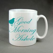 Good Morning Asshole Bird Funny Mug Gift Birthday Present Rude Christmas
