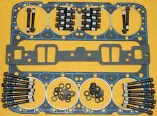 SBC CHEVY 400 FELPRO 1014 STEAM HOLE HEAD GASKETS FOR ALUMINUM HEADS 17031 x 2