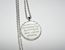 Personalised Necklace Pendant Quote Princess Love, dreams Gift