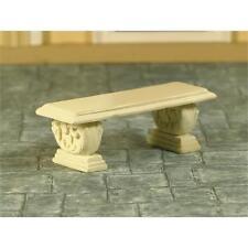 Stone Effect Garden Seat for 1:12 Scale Dolls House Garden 5830
