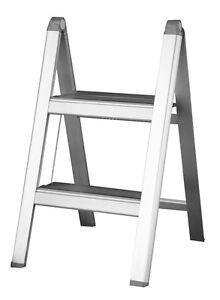 INDALEX Aluminium Slimline Ladder 2 Steps 0.52m