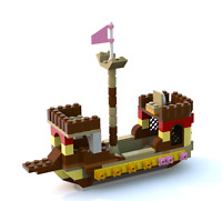 LEGO Chinese Boat building instruction