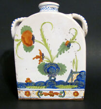 """French Faience Quimper 7 1/4""""  Water or Wiskey? Bottle"""