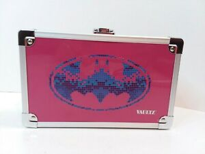 """NEW Vaultz Batman BATGIRL LOCKING Pencil Box W/KEY 5.5 x 8.25 x 2.5"""" Lockbox"""