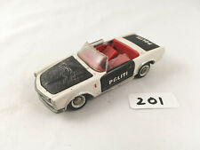 VERY RARE TEKNO DENMARK # 932 MERCEDES 230 SL POLITIE POLICE CAR DIECAST 1960S