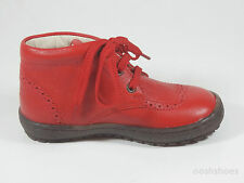 Bo-bell Kids Fire 21Red Leather Lace Shoes UK 5 EU 21 US 5.5 RRP £42.00