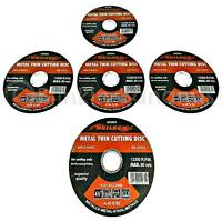 """5 ANGLE GRINDER DISCS DISKS 4.5"""" 115MM CUTTER THIN METAL STEEL CUTTING BLADE 12C"""