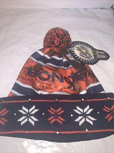 NFL Denver Broncos LED Light up Hat Winter Pom Beanie Stocking Knit Cap