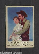 John Carroll & Cath. McLeod Vintage Movie Film Star Trading Card #14Ab