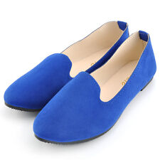 New Women Lady Boat Shoes Casual Flat Ballet Slip On Flats Loafers Single Shoes