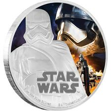 Star Wars:The Force Awakens-Cap. Phasma silver 1 oz Silver Colorized Proof $2