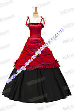 Girls Southern Belle Armelloses Kleid Strap Color Collision Ruffles Dress Prom