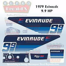 1979 Evinrude 9.9 HP Outboard Reproduction 9 Piece Marine Vinyl Decals 10924-25