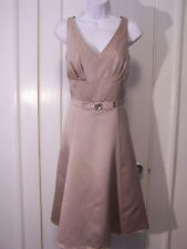 ALFRED ANGELO ALLURING  DOUBLE V NECKLINE CRYSTAL CHAMPAGNE DRESS