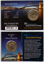 2007 Dollar RAM $1 UNC Coin M Mintmark - 75th Anniv. Sydney Harbour Bridge
