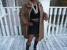 Swing Full Length brown Mink Fur coat jacket bolero S-M