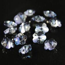 12pcs Exquisite 8mm plum blossom Swarovskii Crystal bead C Hyaline blue