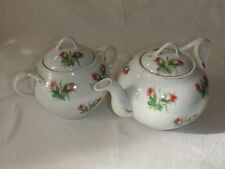 service ancien porcelaine thé théière verseuse pot sucrier