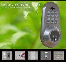 Electronic keyless keypad code door lock deadbolt (Satin Chrome)