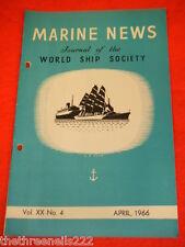 MARINE NEWS - APRIL 1966 VOL XX #4