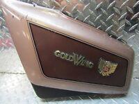 84-87 Honda GL1200 GL 1200 A I Left Side Frame Battery Cover Panel Beige / Brown