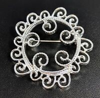 Lovely Vintage Silver Tone Sarah Coventry Jewellery Brooch Signed