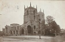 """""""Hundred Year old postcard from collection"""" King's Lynn, St Margaret Church"""