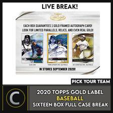 2020 Caja de béisbol 16 TOPPS GOLD Etiqueta (Completo Funda) romper #A979 - Elige Tu Equipo